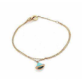 Bulgari Diva's Dream Turquoise 18k Rose Gold Bell Charm Bracelet