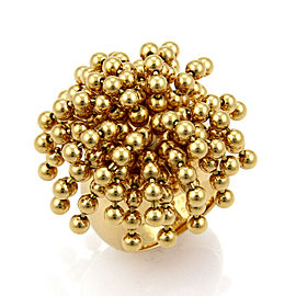 Cartier Nouvelle Vague Dangling Beads 18k Yellow Gold Ring