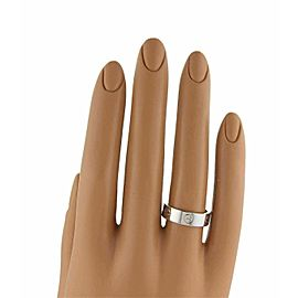 Cartier Love 18k White Gold 5.5mm Wide Band Ring Size 59 US 9