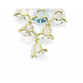 Ippolita Gemma Cascade Blue Topaz & Quartz 18k Gold Earrings - Rt. $3,995
