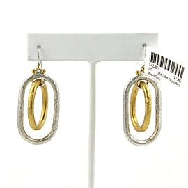 Gurhan Sterling & 24k Gold Overlay Double Oval Ring Dangle Earrings