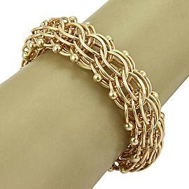 Estate 14k Yellow Gold Multi-Ring 20mm Wide Charm Bracelet