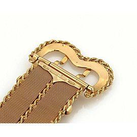 """Vintage Brevettato Wide Mesh Belt w/Buckle 18k Yellow Gold Bracelet 8"""""""