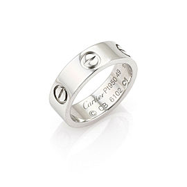 Cartier Love Platinum 5.5mm Wide Band Ring Size 5.0