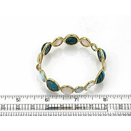 Ippolita Rock Candy Gemstone 18k Yellow Gold Bead Bangle Bracelet