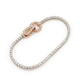 Simon G Buckle 1.02ct Diamond 18k White & Rose Gold Bracelet