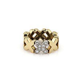 Tiffany & Co. Diamond 18k Yellow Gold X Flex Link Band Ring Size 5.5