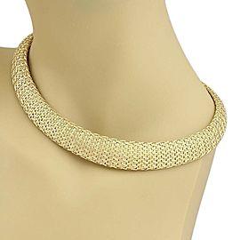 Estate Roberto Coin 18k Yellow Gold Woven Silk Graduated Collar Necklace