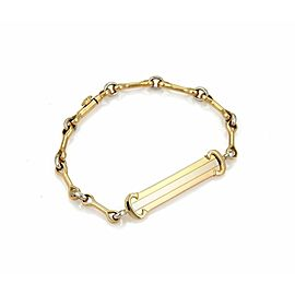 Cartier 18k Tri-Color Gold C Logo ID Bar Bone Link Chain Bracelet