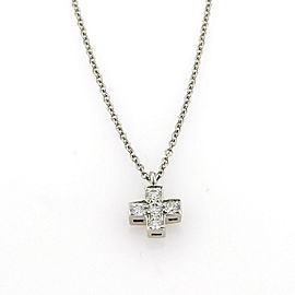 Tiffany & Co. Diamond Platinum Cross Pendant