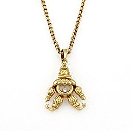 Chopard Happy Diamond 18k Yellow Gold Animated Clown Pendant & Chain