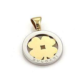 Bulgari Tondo Clover 18k Gold & Stainless Steel Round Pendant