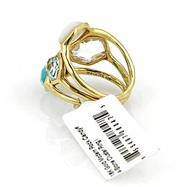 Ippolita Rock Candy Ocean Combo Gemstone 18k Yellow Gold Ring