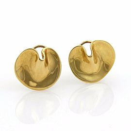 Tiffany & Co. 18k Yellow Gold Round Curved Post Earrings