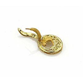 Carrera Equestre Diamond 18k Yellow Gold Horse Dangle Earrings Rt: $4,870