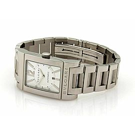 Bulgari Rettangolo Automatic Stainless Steel Date Sapphire Crystal Watch