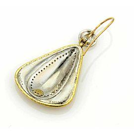Gurhan Clover Diamonds 24k Gold & Sterling Silver Drop Dangle Earrings