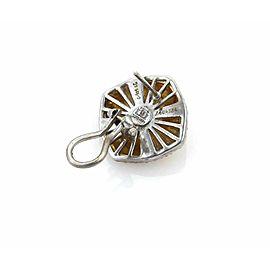 Gorhan RAISON Diamonds 24k Gold & Sterling Silver Button Post Clip Earrings