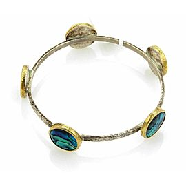 GURHAN Surf Paua Shell 24k Gold & Sterling 5 Stations Bangle