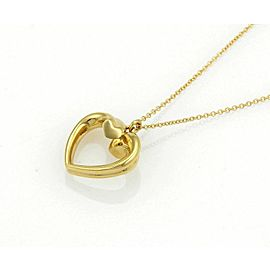 Tiffany & Co. Paloma Picasso Tenderness Heart 18k Gold Pendant Necklace