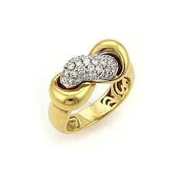 Roberto Coin Diamonds 18k Two Tone Interlaced Band Ring Size 6.25