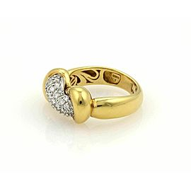 Roberto Coin Diamonds 18k Two Tone Interlaced Band Ring