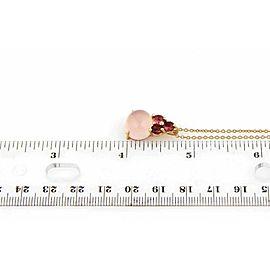 Pomellato Luna Rose Quartz Pink Tourmaline 18k Rose Gold Pendant Necklace