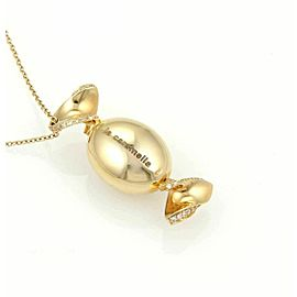 La Caramella Candy Wrap Pendant & Chain in 18k Rose Gold and Diamonds