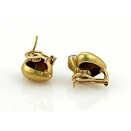 Marlene Stowe Diamonds 18k Yellow Gold Double Heart Earrings