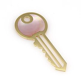 Victoria Casal Pink Mop Key 18k Yellow Gold Pendant Charm