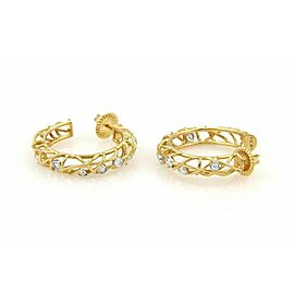 Hearts On Fire Diamonds Lattice Hoop 18k Yellow Gold Earrings Rt. $10,600