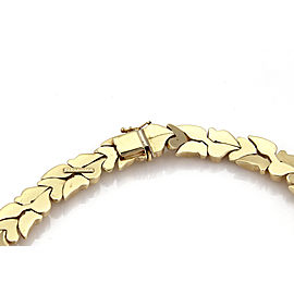 Vintage 14k Yellow Gold Fancy Design 13.5mm Wide Collar Necklace