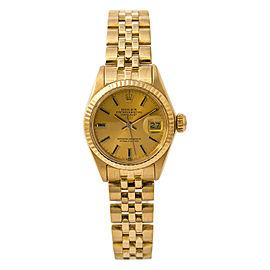 Rolex Datejust 6917 Jubilee Women Automatic Watch 18K Yellow Champagne Dial 26mm