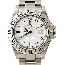 Rolex Explorer II 16570 Men's 2005 Automatic Watch Stainless White Dial 40MM
