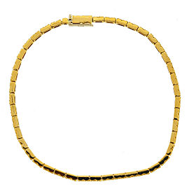 14k Yellow Gold Thin Yellow Diamond Tennis Bracelet