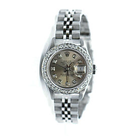 Rolex Datejust Diamond Stainless Steel Watch 69160