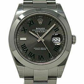 Rolex New Datejust II 126330 Steel 41mm Slate Green Roman