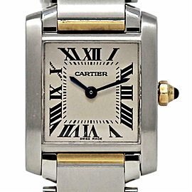 Cartier Tank Francaise W51007Q4 Small Stainless Steel Yellow