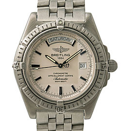 Breitling Headwind Day-Date A45355 Mens Automatic Watch Stainless 42mm