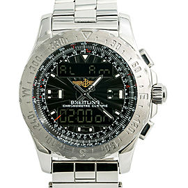 Breitling Airwolf A78363 Mens Quartz Watch Digital Analog Stainless Steel 43mm