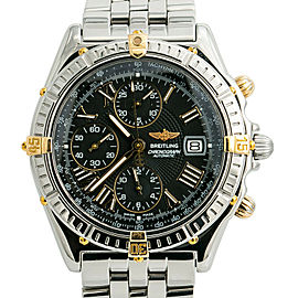 Breitling Windrider Crosswind B13055 Black Dial Mens Automatic Watch 43mm