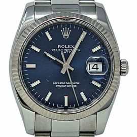 Rolex Date 115234 34mm Stainless Steel Blue Dial 2007