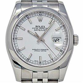 Rolex Datejust 36mm 116200 Steel Jubilee White 2007 Box/Paper/2YrWTY #609-2