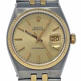 Rolex Datejust Oysterquartz 17013 36mm Steel Gold Integral Bracelet