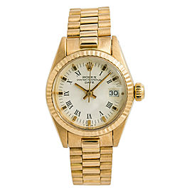Rolex Date President 6917 Womens Automatic Vintage Watch 18K Yellow Gold 26mm