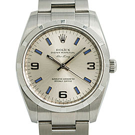 Rolex Air King 114210 Mens Automatic Watch Silver Dial Stainless Steel 34mm