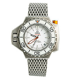 Omega Seamaster Ploprof White 224.30.55.21.04.001 Automatic Watch W/Box & Papers