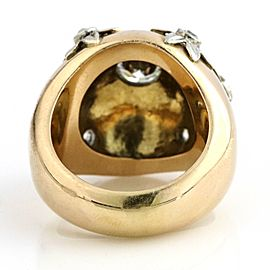 2.20 ct 18k Yellow Gold Diamonds Antique Dome Ring