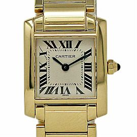 Cartier Tank Francaise W50002N2 Small Ladies 18K Yellow Gold