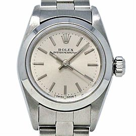 Rolex Oyster Perpetual 26mm 67180 Stainless Steel Silver 1997